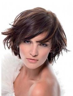Short layered bob hairstyles with  I like messy looks!
