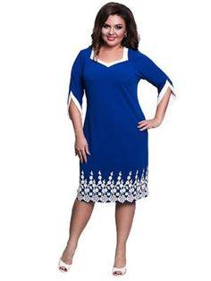 Lace Patchwork Summer Dress  plussize  plussizefashion  crafteastiq Women s  Dresses 46e8b326f3ed