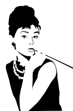 """So i thought i was all original and cool making this stencil """"who'll make a stencil of Audrey Hepburn"""" i thought, """"she's just this old movie star that i have a wierd (on account of she's dead) crus..."""