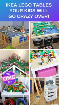 Genius IKEA LEGO Table Hacks You Kids Will Go Crazy Over - - If you know the pain that can only be caused by standing on a forgotten LEGO brick it's time to build your kids an IKEA LEGO table. These hacks are simply genius and the kids will love them! Box Ikea, Lego Table Ikea, Lego Duplo Table, Ikea Kids Table, Ikea Hack Kids, Ikea Hacks, Ikea For Kids, Ikea Children, Lego For Kids
