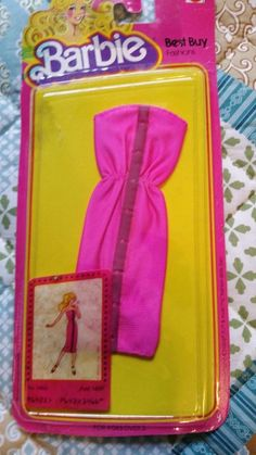 1980 Barbie Best Buy fashions Pink strapless dress. #1466 from 1980 NEW