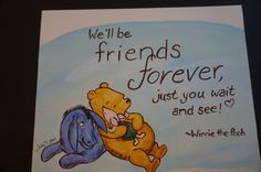Winnie the Pooh, Piglet, and Eeyore, friends forever, 8 x 10 flat canvas, acrylic paint by MoonbeamsBearDreams on Etsy