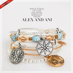 Enter to win a stack of Alex and Ani bangles! Click to view all the details and a chance to enter to win.
