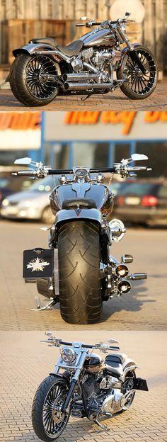 #Harley-Davidson CVO Breakout by Thunderbike with new Pulleybrake-System #harleydavidsonsoftail #harleydavidsonbreakoutcvo