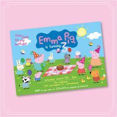Peppa Pig Invitation Peppa Pig Birthday Invitation by Stickearte