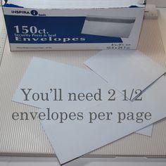 Scrapbook Heaven: Envelope Mini Album Tutorial