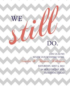 Vow renewal invitation Anniversary party invitation by Vow Renewal Invitations, Anniversary Party Invitations, 10th Wedding Anniversary, 10 Year Anniversary, Anniversary Parties, Wedding Invitations, Invites, Vow Renewal Ceremony, Wedding Renewal Vows