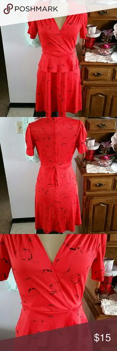 Vintage peplum dress Fun vintage red peplum style dress. Doesn't have a size tag but I wear a 8-10 dress and this fits me. Does have some minor issues on seams. See pictures. Please contact me with any questions. JCPENNY  Dresses Midi