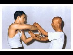 Bruce Lee training with master Yip Man, also known as Ip Man. He was a Chinese martial artist, and a master teacher of Wing Chun. He had several students who later became martial arts masters in their own right, his most famous student was Bruce Lee. Ip Man, Kung Fu, Douglas Macarthur, Bruce Lee Training, Training Day, Aikido, Jiu Jitsu, Karate, Training