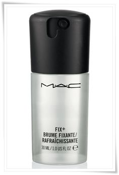 MAC Fix Plus. :: MAC fix plus finishing spray. This is a miracle product for after your makeup is done. Creates a natural sheen and keeps things from looking cakey or creasing. Makeup Spray, Mac Makeup, Makeup Cosmetics, Makeup Brushes, Mineral Cosmetics, Blush Makeup, Makeup Eyeshadow, Skin Toner, Facial Toner