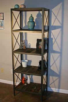 Custom Made Industrial/Rustic Bookcase Shelving Unit, Historical Reclaimed Wood, Modern Vintage Japanese Tsunami