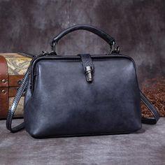 Women Small Leather Doctors Bag Handbags Purse – iLeatherhandbag Crossbody  Shoulder Bag e0120bcb45322