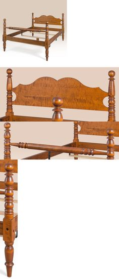 d6e829c403e9 Beds and Bedroom Sets 63549  King Bed Frame Tiger Maple Wood Cannonball Bed  Antique Style