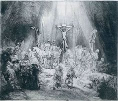 Rembrandt van Rijn The Three Crosses 1653