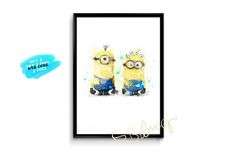 Despicable Me Poster Watercolor Minions Poster printable