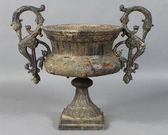 Pair Of 19th Century Cast Iron Urns C.1890 | Inspiring Garden Design |  Pinterest | Gardens, Antiques And Branches