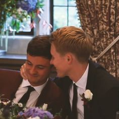 This made me tear up... their love is so beautiful ❤❤❤ #tomdaley #dustinlanceblack #youtube #gaycouple #lgbt #diving #husbands #wedding
