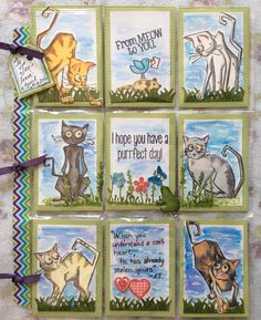 Tim Holtz Crazy Cats Themed Pocket Letter #23. This was sent to Jen G in Ocala, Florida. August, 2016.