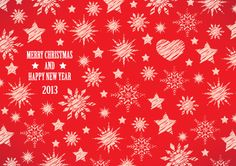 Red Merry Christmas background with hand drawn stars and snowflakes. download free Red Merry Christmas background in Ai