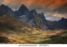 Quebrada Caliente in Cordiliera Huayhuash, Peru, South America - stock photo