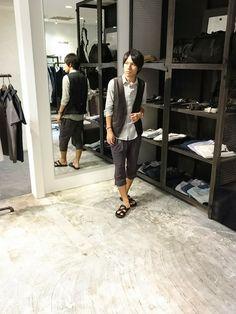 SHELLAC 新宿店 | shibaharaさんのシャツ/ブラウス「SHELLAC Short Point Collar Fly Front Shirt」を使ったコーディネート