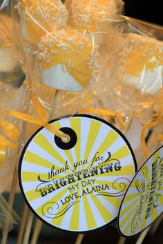 Cute for Favor bags!  SUNSHINE Birthday Party  Coordinating Sunshine by andersruff, $38.00