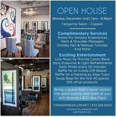 Join us at our #Coppell salon tomorrow night for our Open House!  Live music, aveda freebies and more!