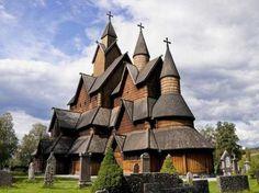 Iglesia De Madera De Heddal, Noruega, iglesias mundo