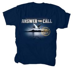 Anwer the Call Shirt, Navy, XXX-Large  -