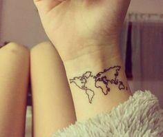 Tatuajes pequeños para mujeres Mapa