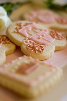 Fairy tale cookies at a Princess Party #princess #party