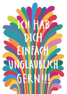 so soll's sein   :-)   -Postkarte Freundschaft // friendshio postcard by LarifariLaden via DaWanda.com
