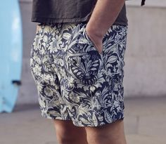 Hands in. Riz Boardshorts , the new Blighty short - Morris-sea print. Dress Me Up, Men Dress, Spring Summer Fashion, Men Summer, Sharp Dressed Man, Mens Fashion, Fashion Outfits, Dress To Impress, My Style