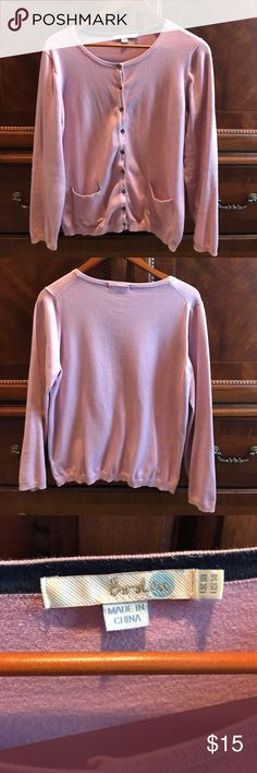 Boden cardigan Summer weight Boden cardigan in a lavender/light purple color. Boden Sweaters Cardigans