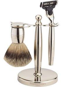 Nickel Shaving Set