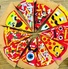 Cassie Stephens: In the Art Room: Fourth Grade Pizza Pillows! Arts And Crafts Storage, Arts And Crafts House, Easy Arts And Crafts, Arts And Crafts Projects, Elementary Art Rooms, Art Lessons Elementary, 4th Grade Art, Fourth Grade, Grade 3