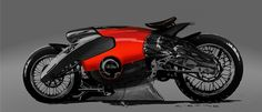 set of sketches for various motorbikes