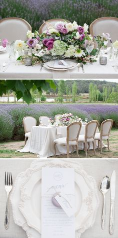 French Provincial wedding reception table setting | Agent 86 Photography | See more: http://theweddingplaybook.com/french-provincial-wedding-inspiration/