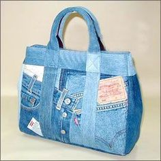denim bag (this site has lots of cute bag ideas)