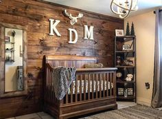 63 Rustic Baby Boy Nursery Room Design Ideas - About-Ruth Baby Boy Rooms, Baby Bedroom, Baby Boy Nurseries, Bedroom Wall, Rustic Baby Nurseries, Baby Cribs, Bedroom Ideas, Men Bedroom, Bedroom Decor