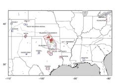 The new seismic hazard map shows the shaking risk from manmade earthquakes.<br />