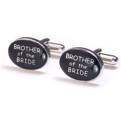 * Oval Cufflinks Brother of the Bride