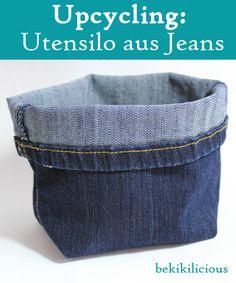bekikilicious: Upcycling: Wie du dir aus einer alten Jeanshose ganz einfach einen kleinen Jeans Utensilo nähen kannst