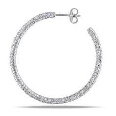 I want sparkly hoop earrings so bad!
