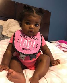 My big girl 💞 Cute Black Babies, Black Baby Girls, Beautiful Black Babies, Cute Little Baby, Pretty Baby, Beautiful Children, Little Babies, Cute Babies, Baby Kids
