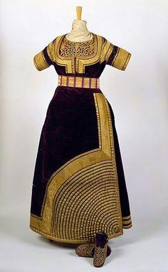 Robe de Mariée juive (Keswa El Kebira), Tétouan, Maroc, fin du 19e ...