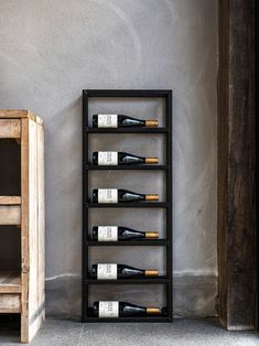 Iron Furniture, Industrial Furniture, Furniture Design, Industrial Design, Unique Wine Racks, Wine Rack Design, Hallway Inspiration, Wine Rack Wall, Interior Decorating