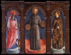 475. Antonio Vivarini - Santi Girolamo, Bernardino da Siena e Luigi di Tolosa - 1446 - Venezia, Gallerie dell'Accademia