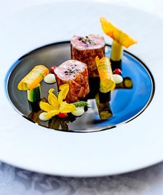 This venerable Paris luxury hotel is now the first and only one in all of Europe with three Michelin-starred restaurants and Five Stars under one lovely roof. Paris Food, Restaurant, Four Seasons Hotel, Food Plating, Fine Dining, Lamb, Breakfast, Claude, Kitchens