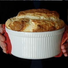 Gluten Free French Onion Soup Souffle from Blackbird Bakery...lots more GF recipes on their site.